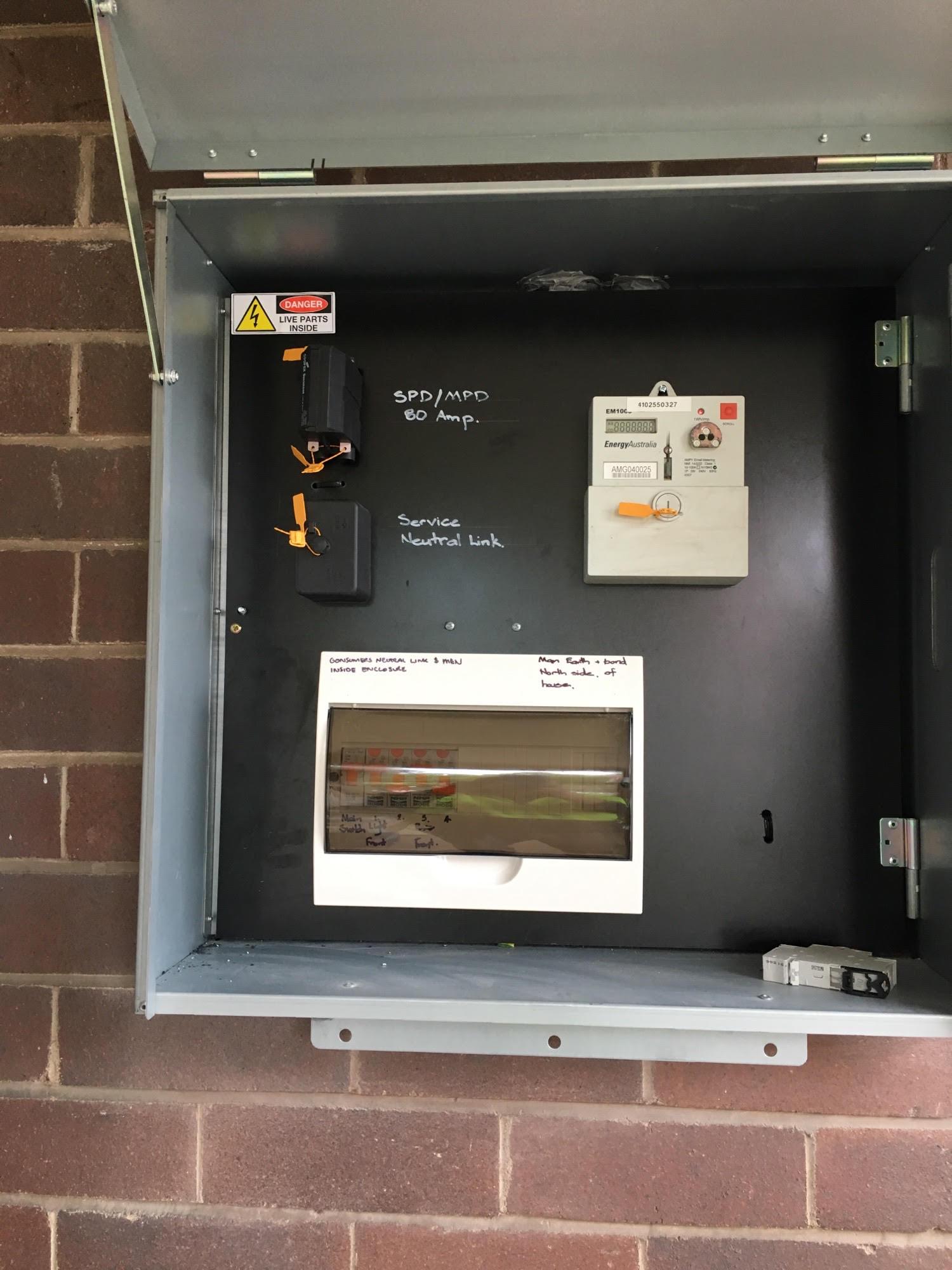 Meter box rcd